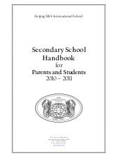 Secondary school handbook 1011