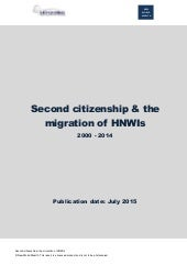Second citizenship & the migration of hnw is 2000 2014