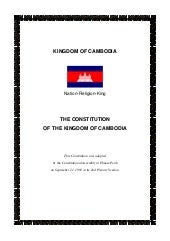 Constitution of the Kingdom of Camb...