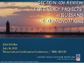 Section 106 Review for Energy Proje...