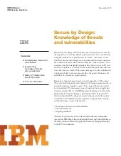 Secure by design knowledge of threa...