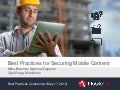 Secure mobile content   SharePoint Best Practices Conference 2013