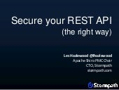 Secure Your REST API (The Right Way)