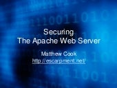 Securing the Apache web server