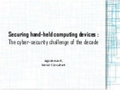 Securing hand held computing devices