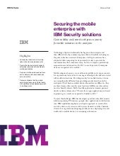 Securing the Mobile Enterprise with...