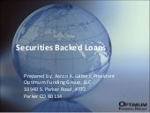Securities Backed Loans