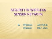 Security in wireless sensor network