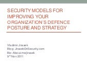 Security models for security architecture