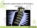 Security Requirements in eBusiness