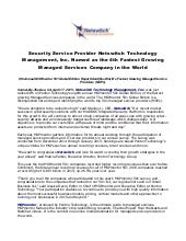 Security service provider netswitch technology management, inc