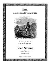 From Generation to Generation, Seed...