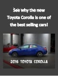 See why the new Toyota Corolla is one of the best selling cars!