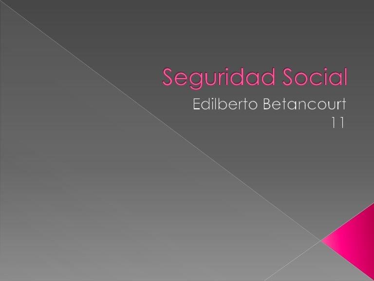 Seguridad social tecnologia