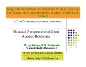 National Perspective of Open Access...