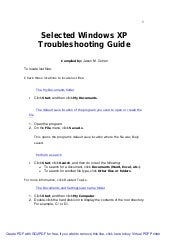 Selected windowsxp troubleshootingg...