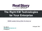 The Right KM Technologies for Your Enterprise