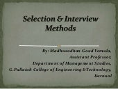 Selection & interview methods in HRM