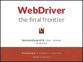 WebDriver: The Final Frontier - Selenium Camp 2014