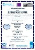Self-Directed Support information session - 25 November 2013 event flyer