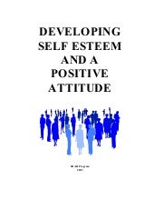 DEVELOPING SELF ESTEEM AND A POSITI...