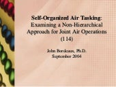 Self Organized Air Tasking
