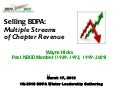Selling BDPA: Multiple Streams of Chapter Income