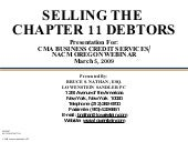 Selling the Chapter 11 Debtor