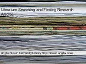 How to Find Research Articles! For ...
