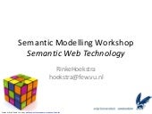 Semantic Modelling using Semantic W...