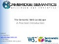 Intro to the Semantic Web Landscape - 2011