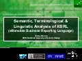Semantic, terminological and linguistic analysis of xbrl