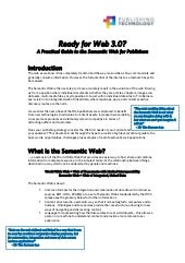 The Semantic Web & Web 3.0