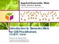 Introduction to Semantic Web for GIS Practitioners