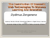 Semantic web and distance education