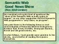 Semantic Web Good News