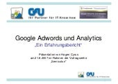 Google Adwords und Analytics: Erfah...