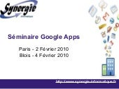 Seminaire Google Apps 02 2010