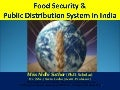 Food Security and PDS system in India
