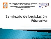 Seminario legislacion educativa blog