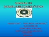 Seminar on germplasm