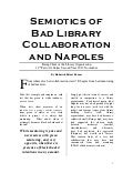 Semiotics of bad library collaboration (and Napoles)