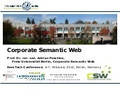SemTecBiz 2012: Corporate Semantic Web