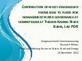 Contribution of Multi-Stakeholder Knowledge to Flood Risk Management Water Governance Downstream at Theurn-Kading River Basin, Lao PDR