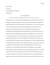 Senior project written speech