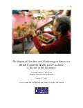 The Impact of Gardens and Gardening on Seniors in British Columbia Health-Care Facilities: A Review of the Literature