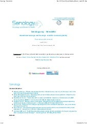 Senology Newsletter - April 23, 2015