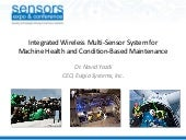 Sensors Expo 2013: Condition Based ...