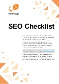 Seo checklist for crushing the spiders