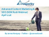 SEO & CONTENT MARKETING IN 2015 - ADVANCED STRATEGIES THAT ARE WORKING RIGHT NOW!